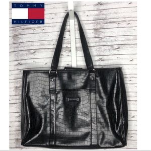 Tommy Hilfiger Laptop Tote Bag - Black